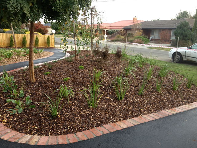 The landscaped view geelong for Landscaping rocks geelong